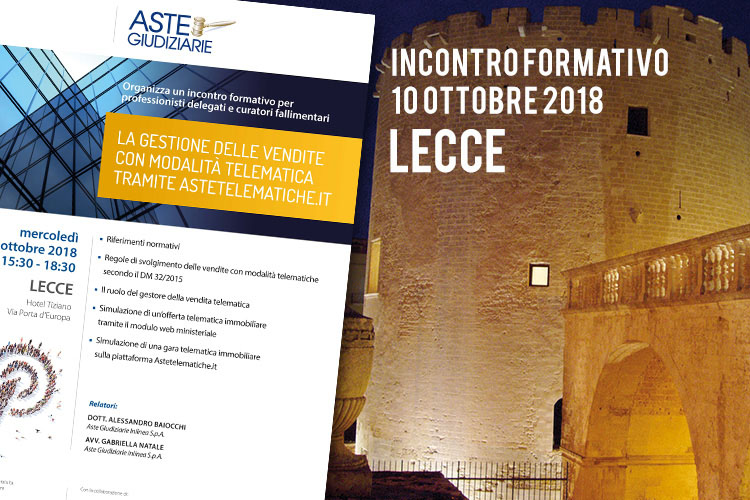 Lecce – La gestione delle vendite tramite astetelematiche.it ...